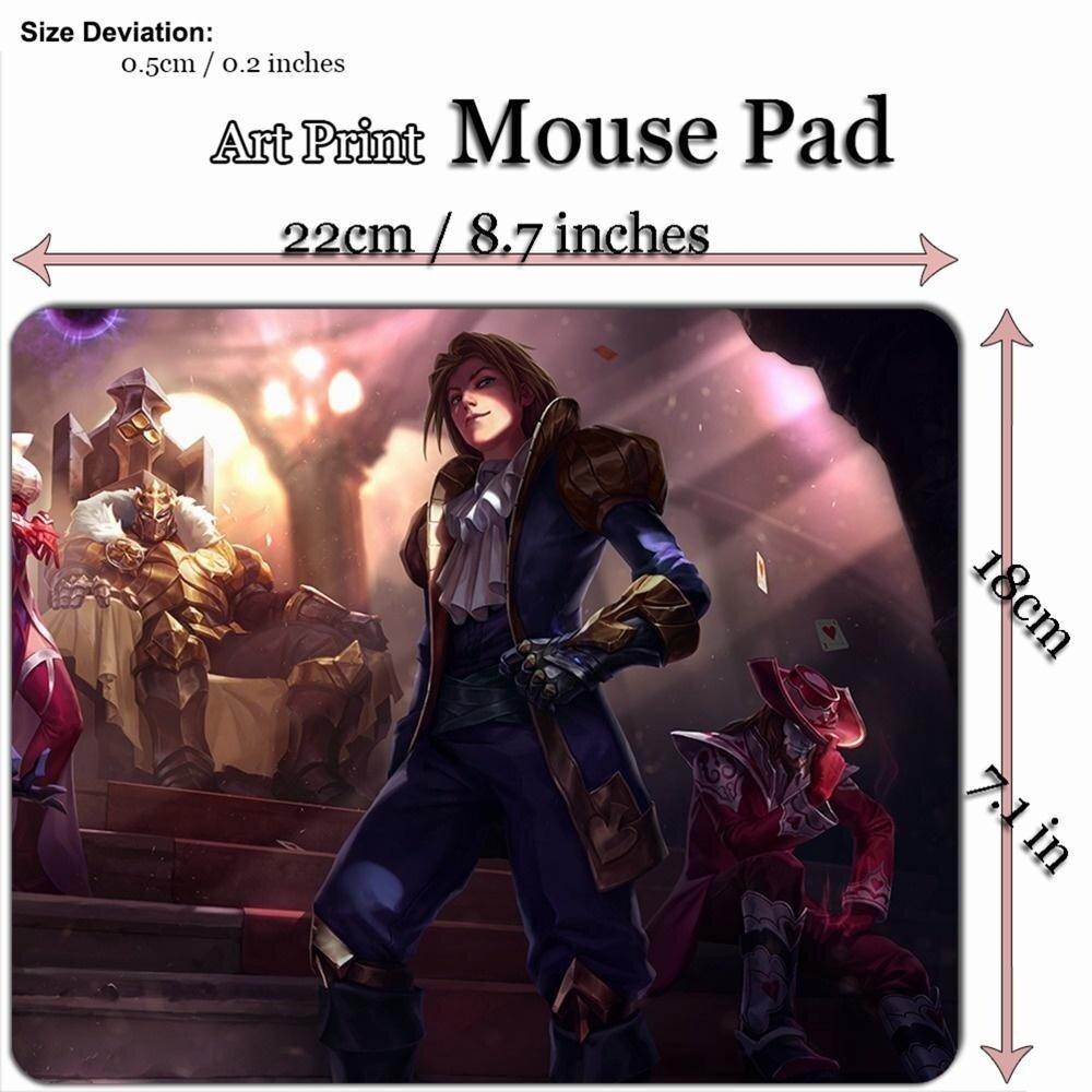 Seni Cetak Permainan Mouse Alas Alas (22*18 Cm) untuk League Legenda LOL 142 Ace dari Spades Ezreal-Internasional