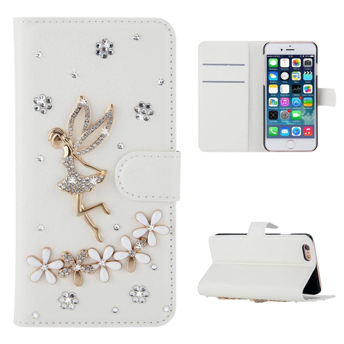 AS Beauty Case for Lenovo ZUK Edge Luxury 3D Bling Angel Flower Diamond Rhinestones PU Leather Wallet Case - intl