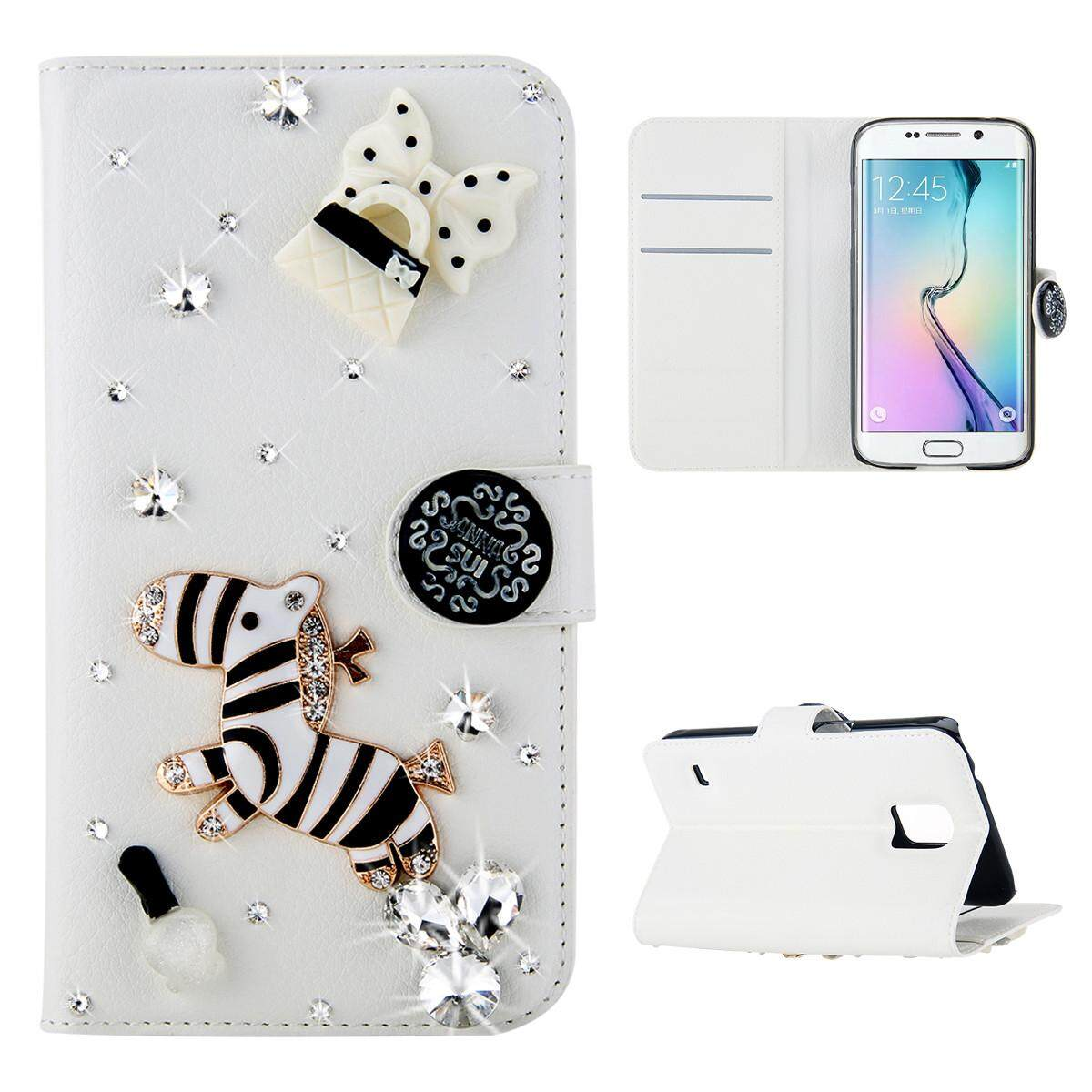 AS beauty Phone Case, For LG X Venture 3D Bling Diamond Rhinestones PU Leather Wallet Case Flip Stand Card Slots Cover with Magnetic Closure - intl