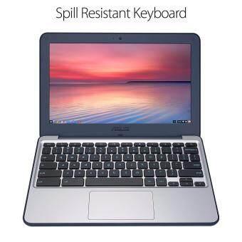 ASUS Chromebook C202SA-YS02 11.6 Ruggedized and Water Resistant Design with 180 Degree (Intel Celeron 4 GB, 16GB eMMC, Dark Blue, Silver) Malaysia
