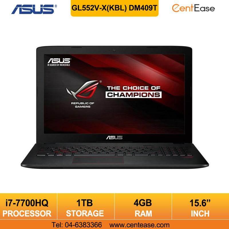 Asus GL552V-X(KBL) DM409T Gaming Notebook Laptop Core i7-7700 GTX950M/ Black Malaysia