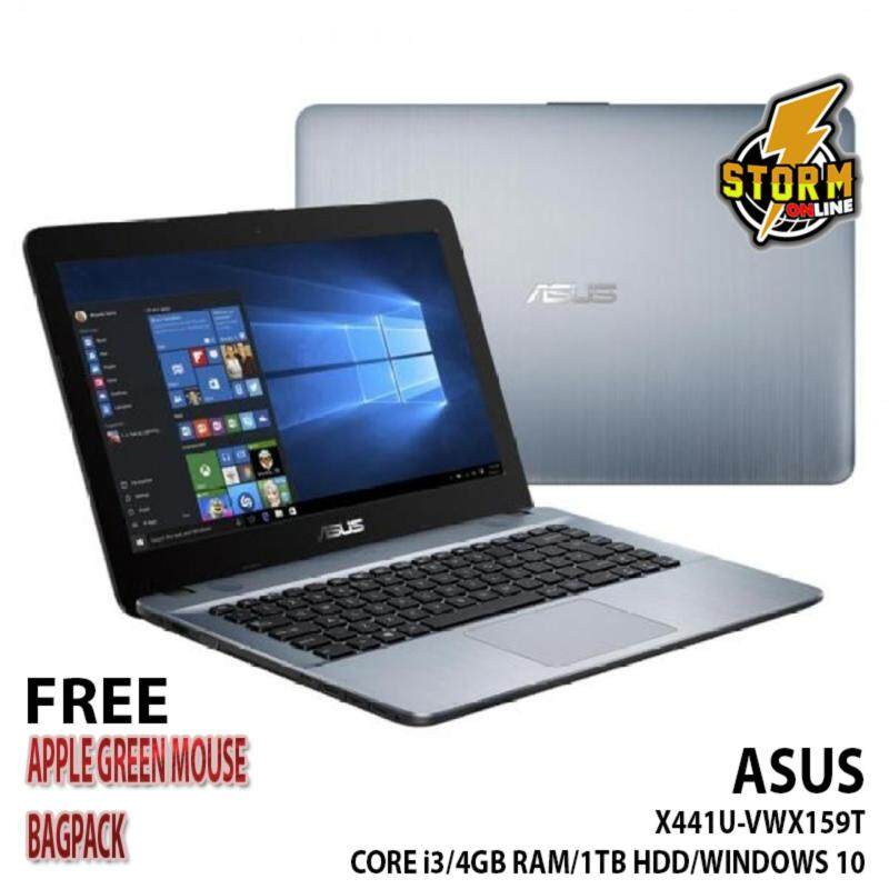 Asus VivoBook Max X441U-VWX159T 14 Laptop (Silver) + AsusFreeBackpack Malaysia