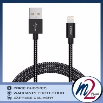 Harga AUKEY CB-D16 CABLE -MFI LIGHTNING 8PIN - BRAIDED BLACK