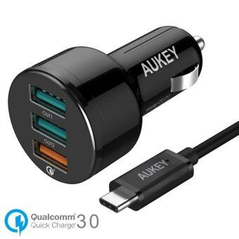 AUKEY CC-T11 Qualcomm Quick Charge 3.0 USB Ports 42W 7.8A Car Charger Note