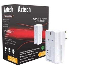 Aztech HomePlug HL115EP AV 500Mbps Pass Through
