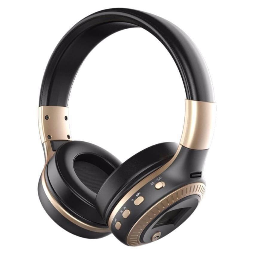 B19 Stereo Headset Nirkabel Bluetooth Headphone Ikat Kepala Headset dengan Mikrofon, FM Radio, Mikro-Sd Kartu Slot-Internasional