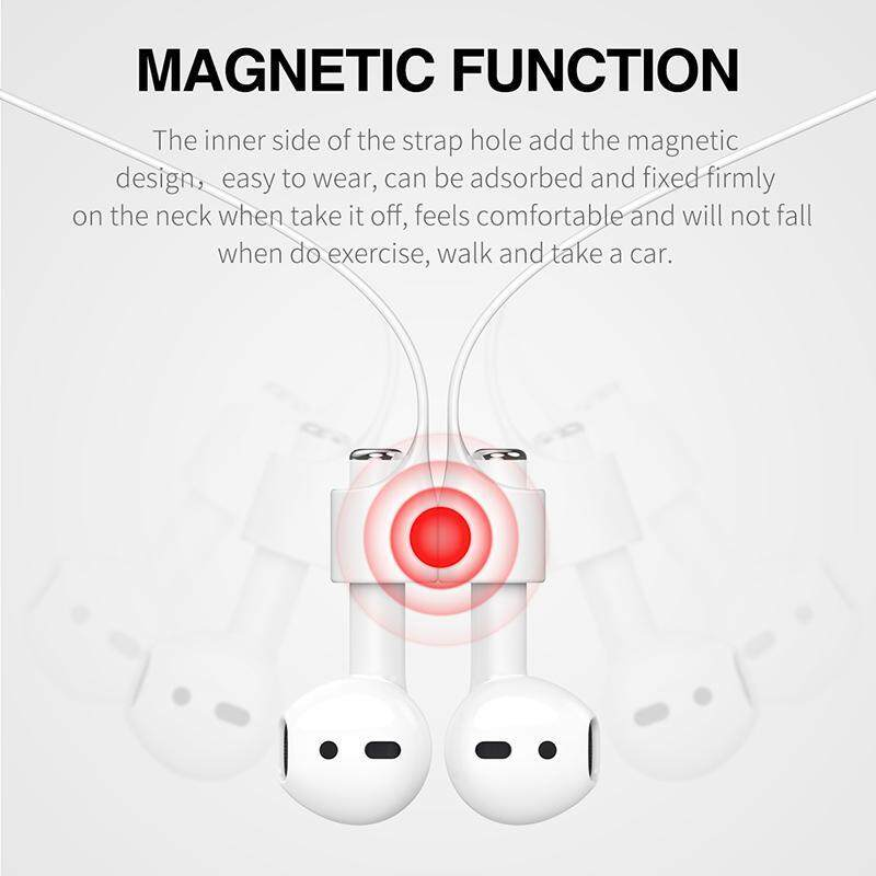... GoTime Baseus Magnetic Strap For Apple Airpods Bluetooth Earphone Silicone Anti Lost Strap Loop String Rope ...