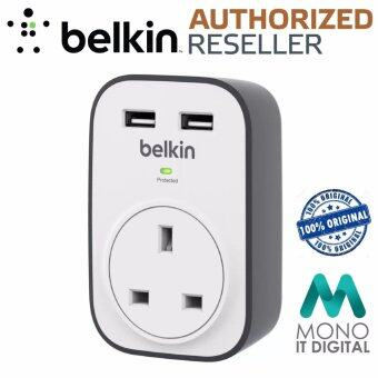 BELKIN BSV103sa Surge Cube 1 Outlet Surge Protector with 2 x 2.4A Shared USB Charging