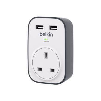 Belkin SurgeCube 1 Outlet Surge Protector with 2 x 2.4A Shared USB Charging BKN-BSV103SA