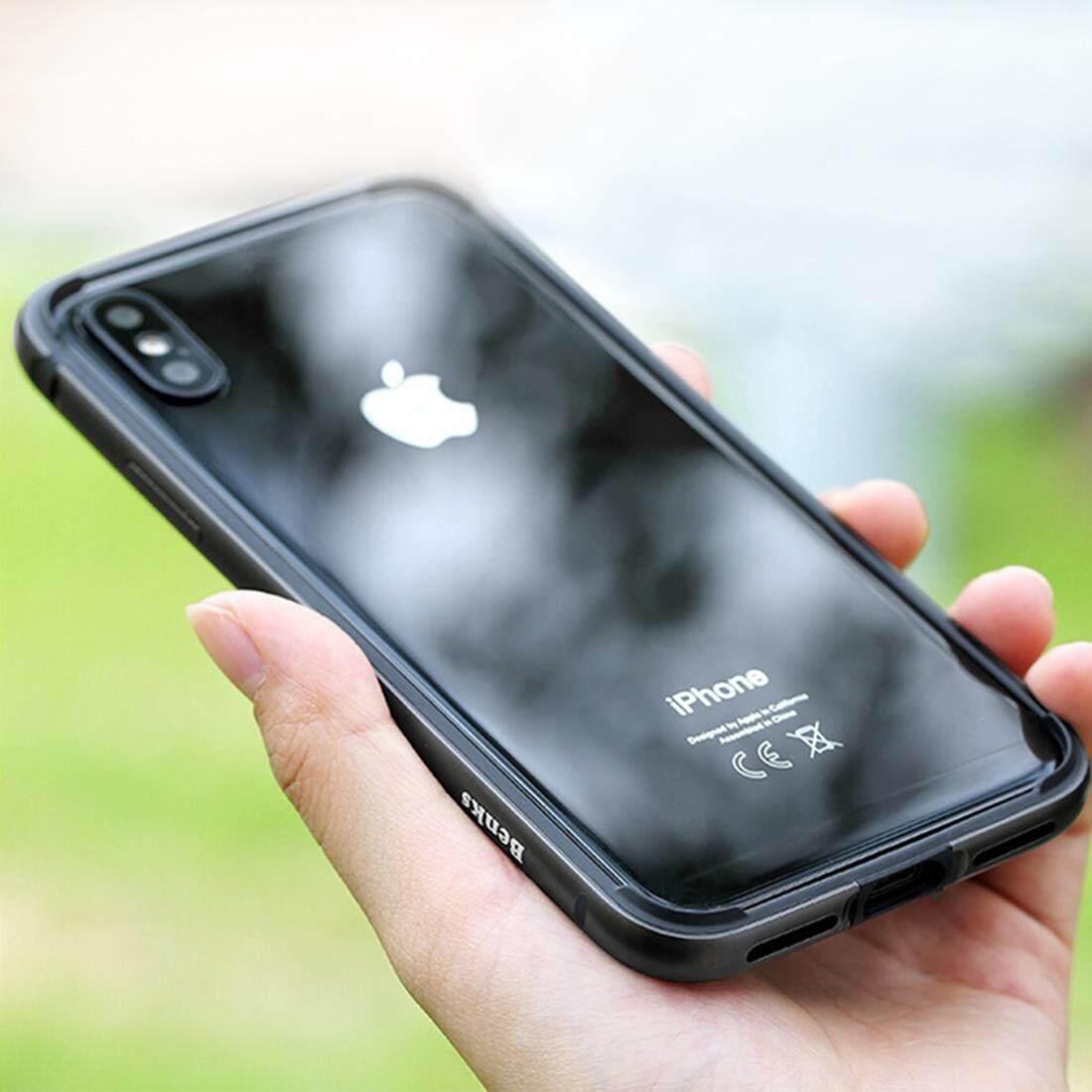 Benks Cho Iphone X Kim Loại Mạ Điện Dropproof Full Độ Phủ Ốp Lưng Bảo Vệ Khung Đen Quốc Tế Nguyên