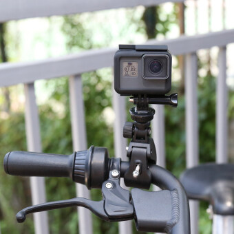 Bike Bicycle Motorcycle Handlebar Clamp Mount for Gopro Hero 5 4 3 SJCAM Eken Yi 4K Camera Holder Clip Go Pro Cycling Accessory - 5