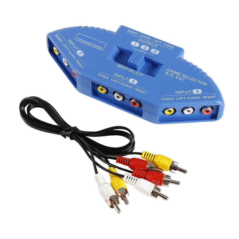 Sell 3 Way Audio Cheapest Best Quality Th Store 2 Rca Video Switch Thb 185 Blue Av