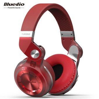 Bluedio T2+ Turbine 2 Bluetooth 4.1 Headphone SD Card with Mic(Red)