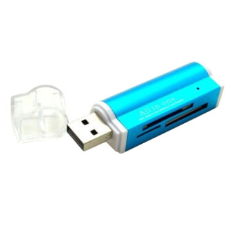 Harga Bluelans(R) USB2.0 Micro SD TF MMC SDHC MS Memory Card Reader Blue