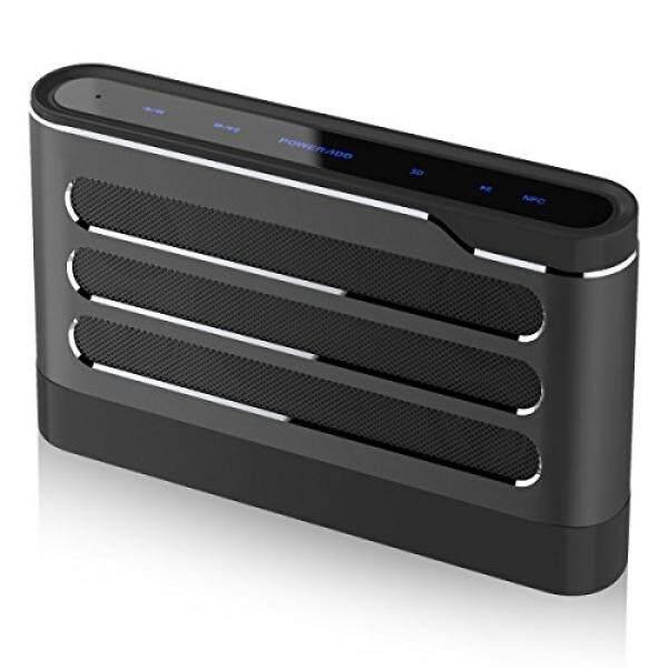 Pembicara Bluetooth, poweradd Soundfly 40 W Peka Sentuh Nirkabel Portabel Pembicara untuk Rumah Pesta Theater (4X10 W Driver, bas Yang Dalam, Subwoofer, Mikrofon Dibangun Di-Dalam, Paduan Aluminium), Hitam-Internasional