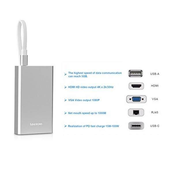 Boddenly Premium USB-C Hub Video Konverter Mendukung USB-A/HDMI/VGA/RJ45/USB-C/untuk Macbook Baru google Krom Buku Huawei MateBook MiBook dan Perangkat Tipe-c-Internasional