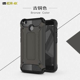Bogdana for Xiaomi Redmi 4X Case Hybrid Armor Phone Cover Case(Black)