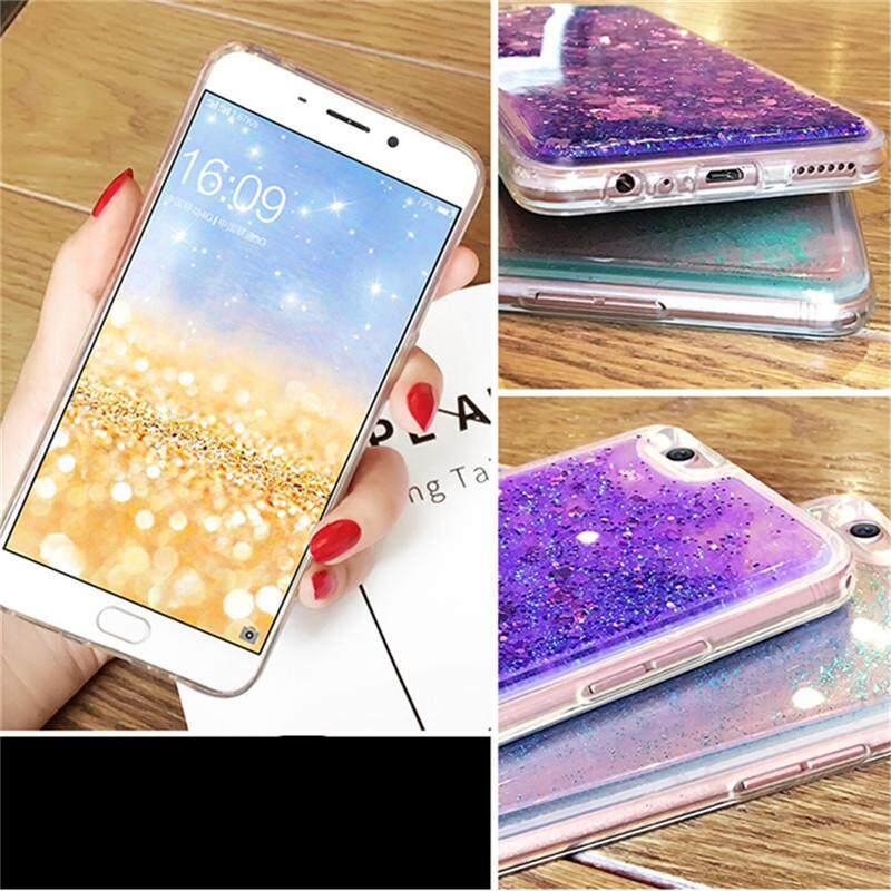 For Vivo V7 / Y75 Quicksand Soft Case Dynamic Glitter Sand Transparent Back .