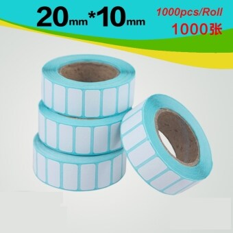 Harga BYT 20*10mm 1000pcs/Roll Waterproof Thermal Sensitive Self AdhesivePrice Tag Barcode Sticker Shipping Labels