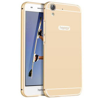 BYT Metal Bumper+PC Back Cover Case for Huawei Honor 5A (Gold)