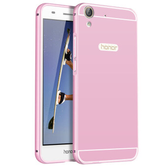 BYT Metal Bumper+PC Back Cover Case for Huawei Honor 5A (Pink)