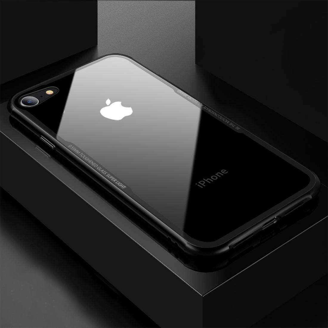 Bán Cafele For Iphone 8 And 7 Tpu Tempered Glass Shockproof Protective Back Cover Case Black Intl Có Thương Hiệu Nguyên