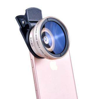 Camera Lens 37MM 0.45x Super Wide Angle Lens + 12.5x Super MacroLens for Smartphone(Gold)