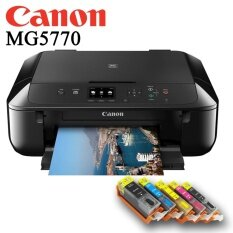 Canon Pixma MG5770 All in 1 Printer+770-771 Refillable Ink Cartridge with Ink SET similar to Epson L385