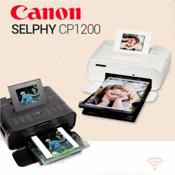 Wireless Compact Photo Printer SELPHY CP1200 Black / Canon Mini Printer / Selphy Photo Printer