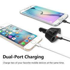 Car Charger, Dual Smart USB Port 3.1A Output Universal for iPhone 7 / 6s / Plus, iPad Pro / Air 2 / mini, Galaxy S7 / S6 / Edge / Plus, Note 5 / 4, LG, Nexus, HTC and More Black