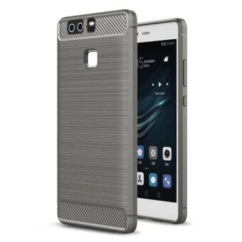 Carbon Fiber Brushed Rubber Armor Shockproof Case Soft TPU SiliconeBack Cover For Huawei P9 Plus 5.5 Inch