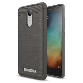 Carbon Fibre Brushed TPU Shell Case for Xiaomi Redmi Note 3 / Note3 Pro - Grey