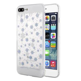 Case untuk iPhone 7 Plus/Iphone 8 Plus Ultra-Tipis TPU Lunak Bening Dekorasi