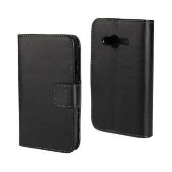Case For Samsung Galaxy Ace 4 G313H Leather Flip Stand Cover Black