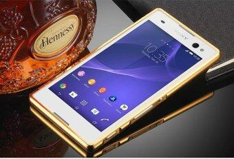 Case for Sony Xperia Z L36h-Luxury Metal Bumper Frame and Mirror PCBack Case ...