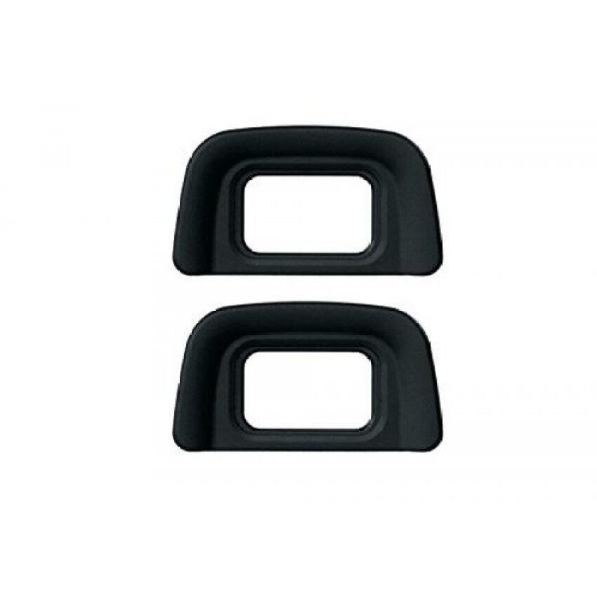 Ceari [2 Pack] Dk-20 Rubber Eyecup Eyepiece Viewfinder For Nikon D3000 D3100 D3200 D5100 D60 D50 D40 D40x Ds Camera + Microfiber Clean Cloth - intl