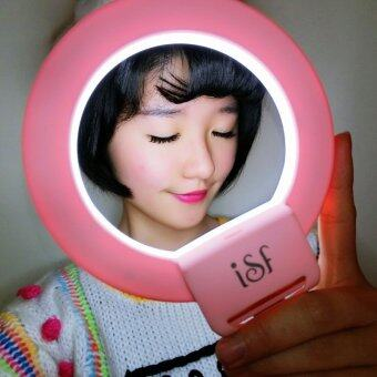 Harga CHARM EYES Smartphone LED Ring Selfie Light night Enhancing Photography Clip-on (Pink)