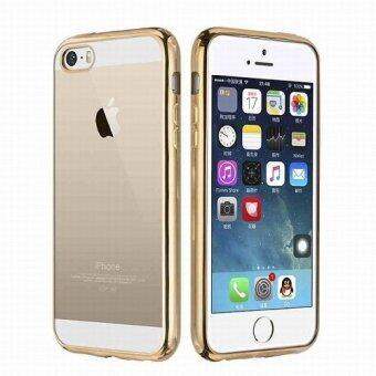 Harga Chrome Bumper TPU Case For Apple Iphone 5,5S,SE (Ruxury Gold)