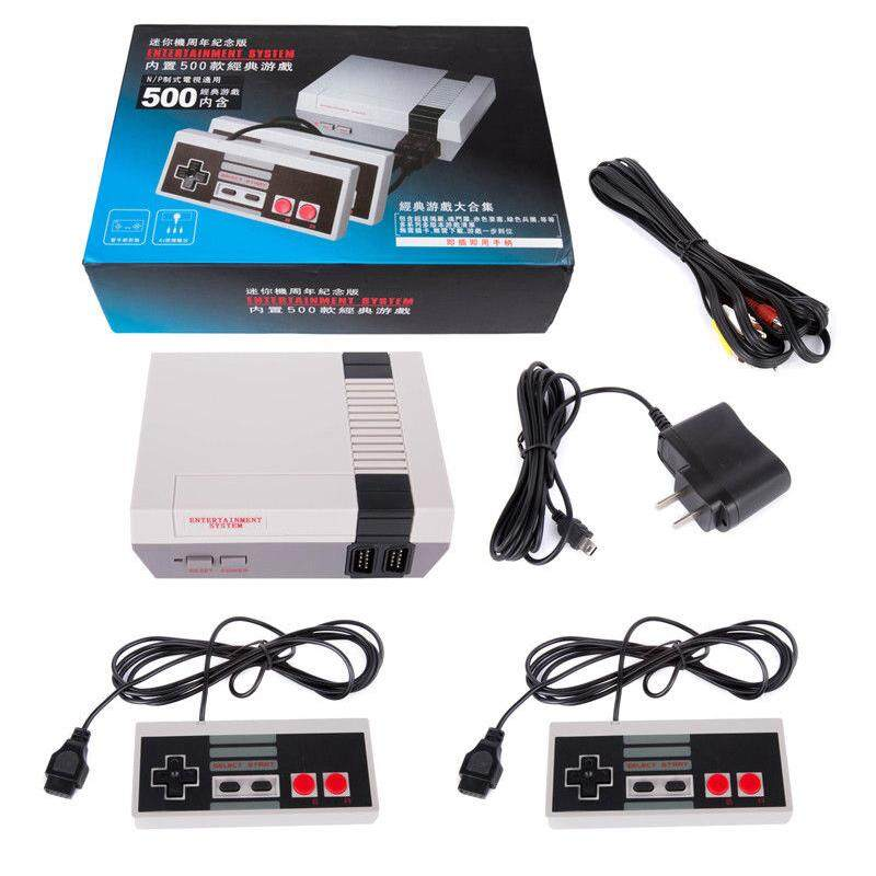 Classic Retro Children's Game Console Professional System with 2 Controllers Built-in 500 TV Video Game Specification:U.S. regulations - intl