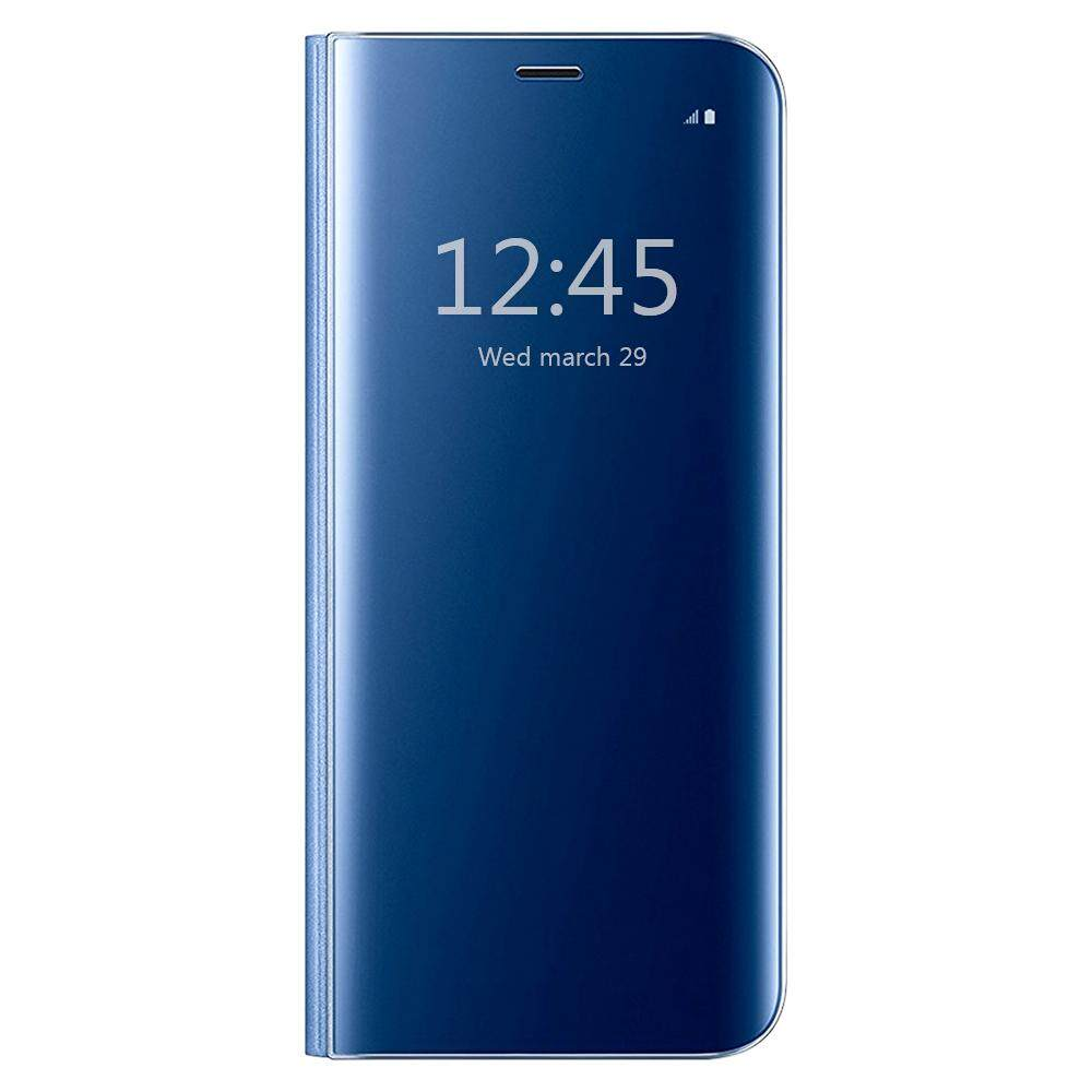 ทบทวน ที่สุด Clear View Flip Stand Case Cover For Samsung Galaxy S7 Edge Blue Intl