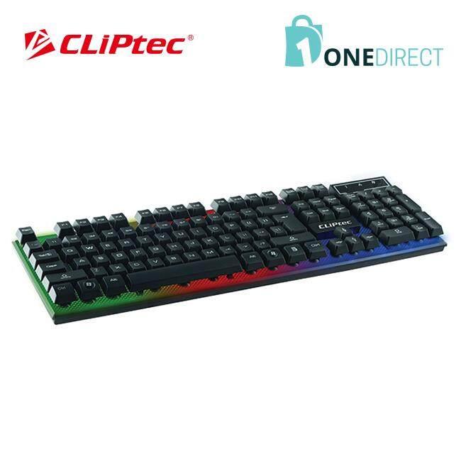 CLiPtec BLACK-NEO USB LED Illuminated Keyboard-RZK290 (Black)