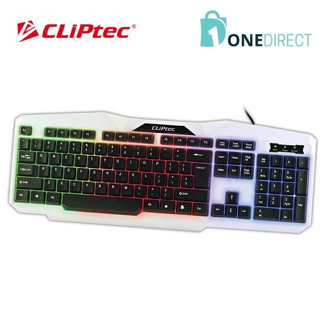 CLiPtec KLASSIC-NEO USB LED Illuminated Keyboard-RZK248 (White)