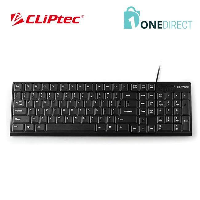 CLiPtec KLASSIC USB Standard Keyboard-RZK247 (Black)