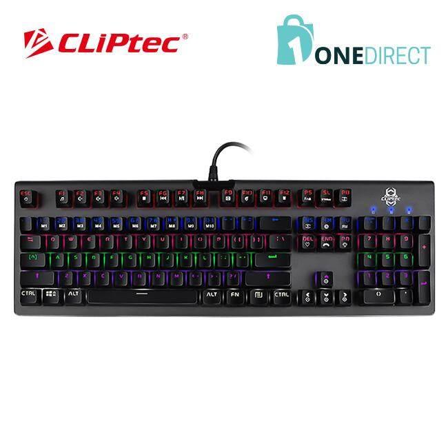 CLiPtec MEGOSOURIUS USB Illuminated Mechanical Pro-Gaming Keyboard-RGK827 (Grey)