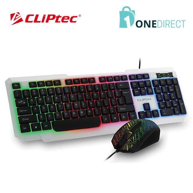 CLiPtec METEOR-NEO USB LED Illuminated Keyboard Combo Set-RZK260 (White)