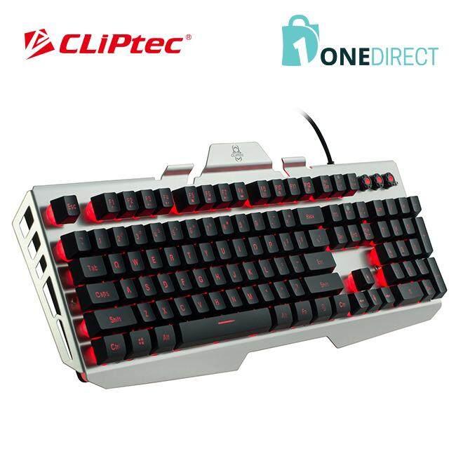 CLiPtec NACRONO USB LED Illuminated Gaming Keyboard-RGK752 (Silver)