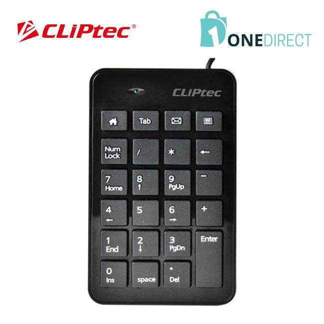 CLiPtec RAPID USB 2.0 Numeric Keypad-RZK231 (Black)
