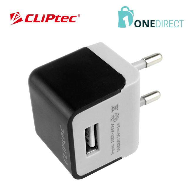 CLiPtec Single USB Port 1A Home Charger-GZU360 (Black)