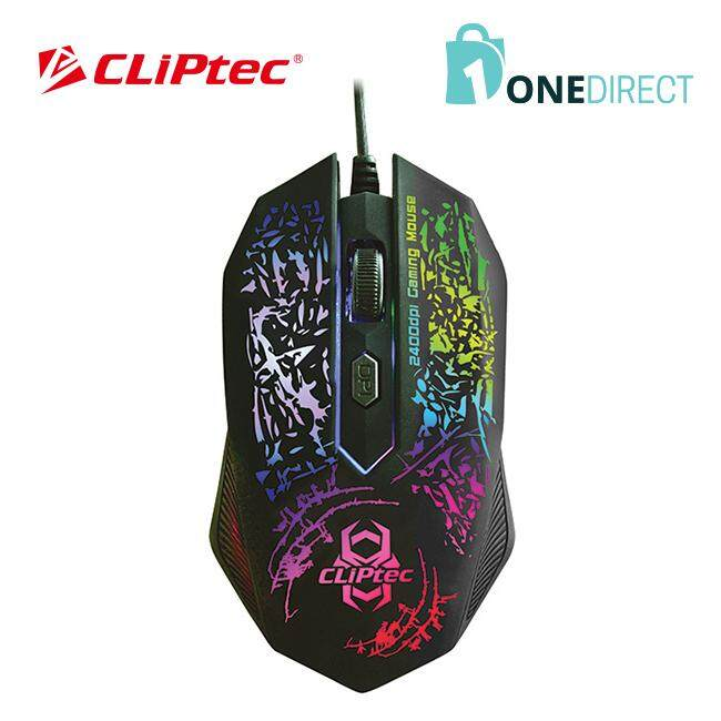 CLiPtec STORM 2400dpi Illuminated Gaming Mouse-RGS500 (Black)