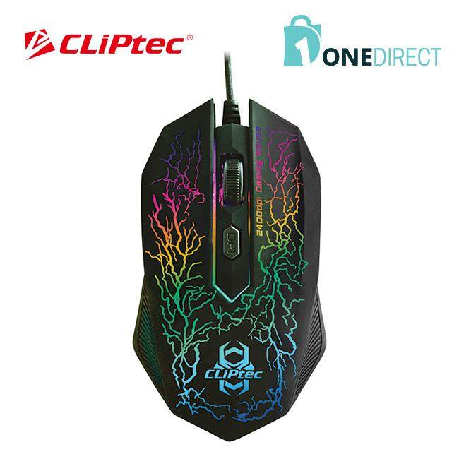 CLiPtec STORM 2400dpi Illuminated Gaming Mouse-RGS501 (Black)